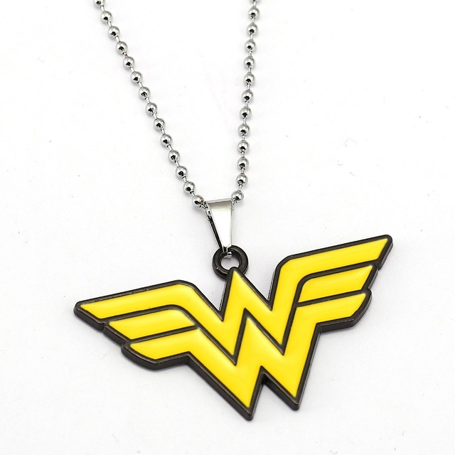 Wonder Woman Necklace Anime Pendant Fashion Necklaces Friendship Gift Movie Jewelry Accessories