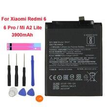 QrxPower Original BN47 Replacement Battery for Xiaomi Redmi 6 Pro / Mi A2 Lite 3900mAh Li-ion Phone + Tool