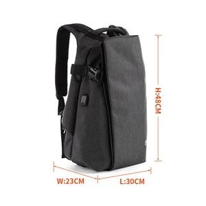 Image 4 - Mens Boys Backpack Shoulder Bag USB Charging Laptop Bag Notebook Fashion Outdoor Travel Oxford Sport Waterproof 14 inch