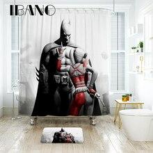 IBANO Marvel, Бэтмен, занавеска для душа, водонепроницаемый полиэстер, ткань, занавеска для ванной комнаты, 12 шт., пластиковые крючки, напольный коврик