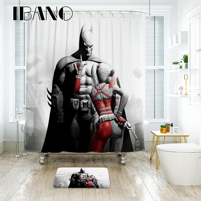 IBANO Marvel Batman Tenda Della Doccia Impermeabile Tessuto In Poliestere Bagno