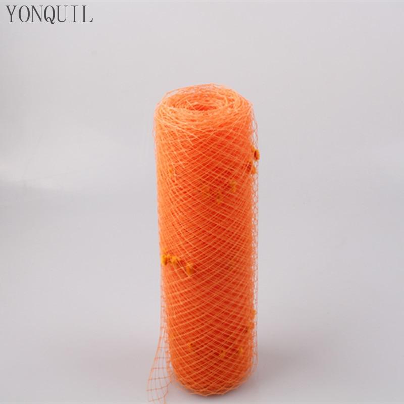 25CM Orange Or Multiple Color Dot Birdcage Veil Bridal Netting Hair Accessory Millinery Veilling DIY Fascinator Base Headpiece