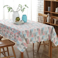 Canvas Tablecloth Table Cover Fabric Modern Nordic Geometric Print Kitchen Refrigerator TV Textile Home Decor New