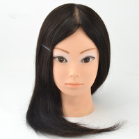 20 best 100% Human Hair Mannequin Head Hairdressing Practice can be color bleach and dye For Hairdresser Dolls Training Head