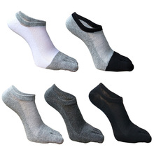 Men's summer thin mesh breathable invisible shallow cotton five-fingered socks low-end leisure sports toe socks thin