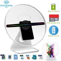 TBDSZ 30cm 3D advertising hologram fan Projector light display holographic rechargeable Desktop hologram 16GB 256 LED Lamp beads