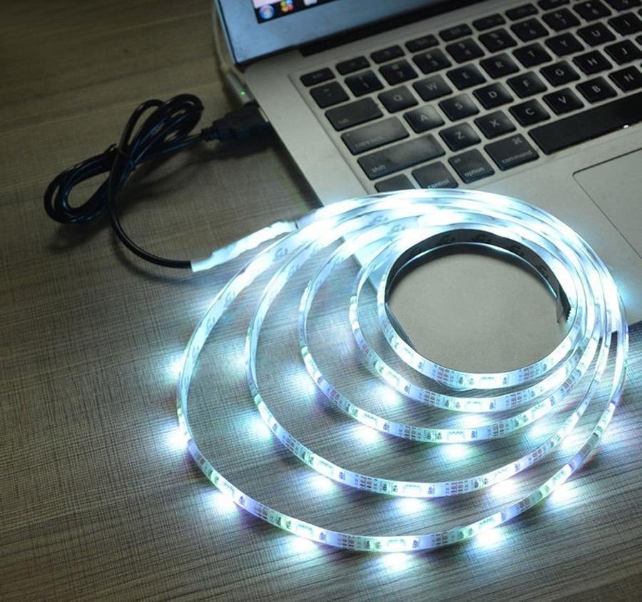 TV Backlight RGB LED Strip 5050 Waterproof 5V USB LED Tape String Bias lighting For HDTV Screen Desktop PC LCD Monitor Decoration (5)