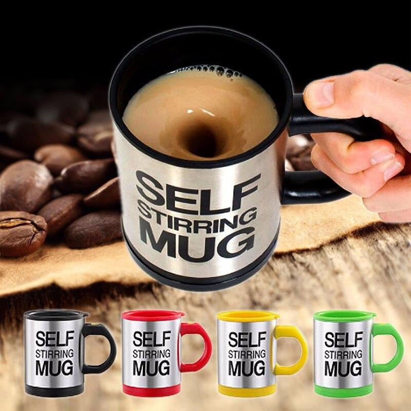400 ml Tassen Automatische Elektrische Faul Selbst Rühren Becher Tasse Kaffee Milch Mischen Becher Smart Edelstahl Saft Mischen Tasse drink