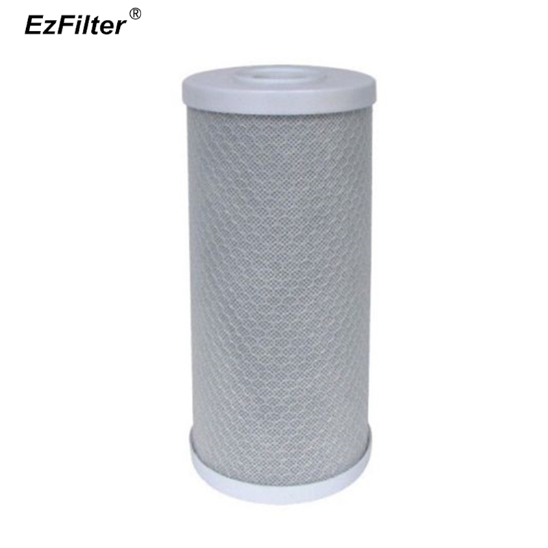 Jumbo Whole House 4.5 x 10 Inch Carbon Block Water Filter RO CTO Filter Cartridge 5 Micron For Big Blue Housing 2 pack of 10 micron big blue 20x4 5 sediment water filter cartridge for whole house water filtration system 20 x 4 1 2