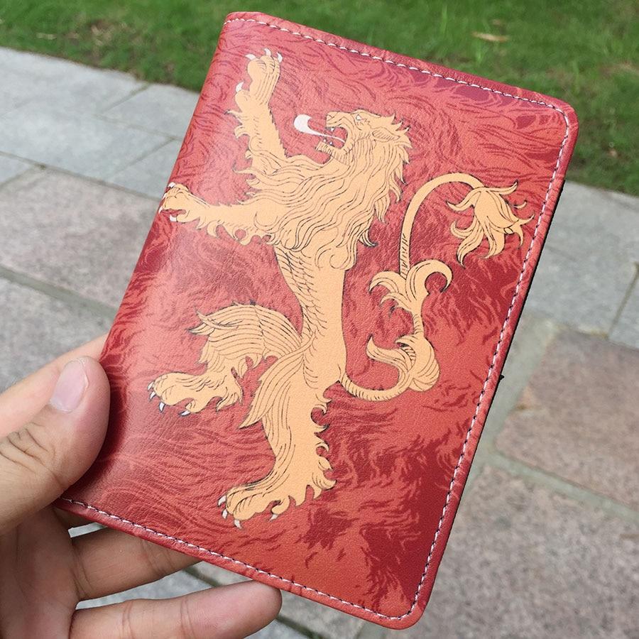 Game of thrones House Stark icewolf Targaryen Passport Cover PU ...
