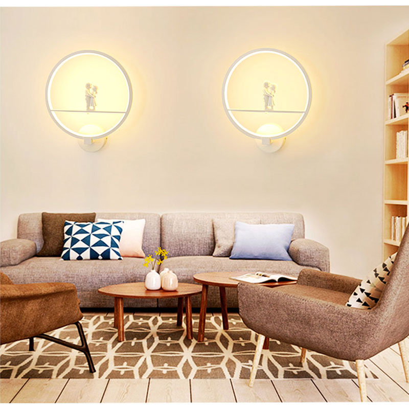 [DBF]Modern Art Lover 19W LED Wall Sconces Lamp Staircase Aisle LED Light Background Cafe Bedside Bedroom Living Room Wall Light modern lamp trophy wall lamp wall lamp bed lighting bedside wall lamp