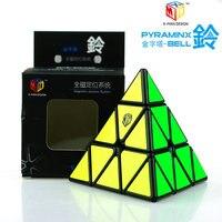 Qiyi волшебный кубик рубика X-Man дизайн Pyraminx Bell 3x3 Cube 3x3x3 система магнитного положения Кубик Рубика для профессионалов детские игрушки-головоло...