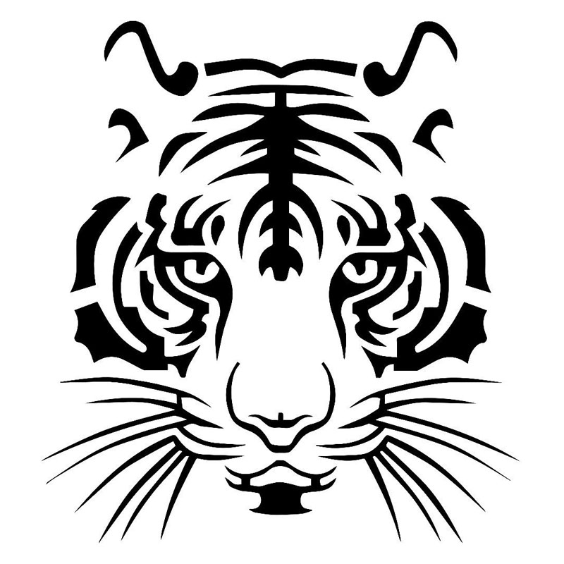 13 9 15 2cm Mighty Tiger Head Personality Decals Vinyl Car