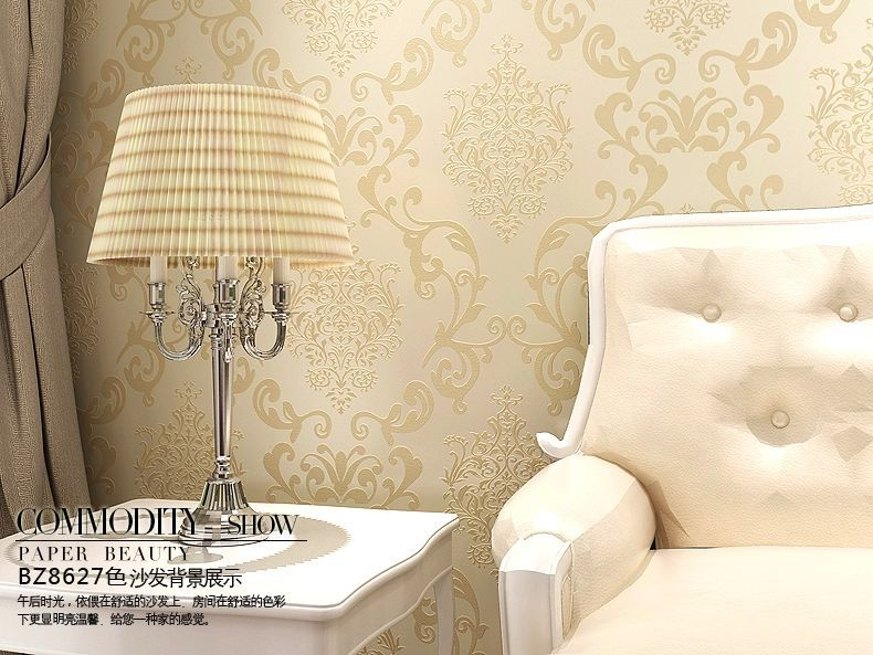 Aliexpress Com Buy Vintage Classic Golden Yellow Modern Feature Wallpaper Wall Stickers Wallpapers Home Decor From Reliable Sticker Decor Suppliers On