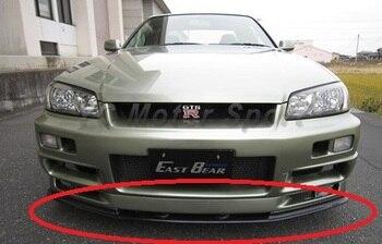 Автомобильные аксессуары из углеродного волокна NI Стиль передняя нижняя губка с поддоном подходит для 1999-2002 R34 GTR передний бампер oem диффузо...