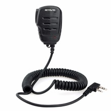 Retevis RS-111 2PIN Remote Speaker Microphone for Kenwood Retevis H777 RT5R RT22 RT3 RT5 Baofeng UV-5R Walkie Talkie C9052A