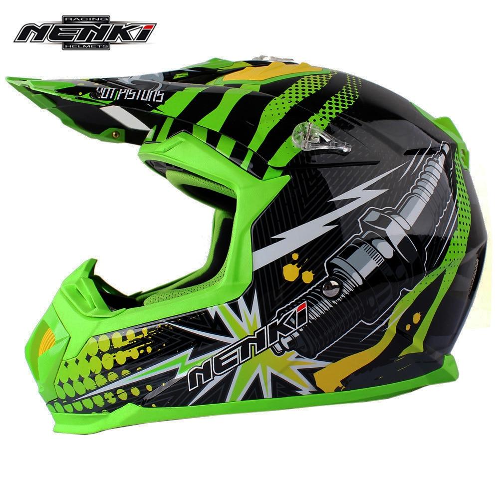 Motocross Helmet NENKI Classic Pistons ATV Dirt Bike Off Road Rally Racing Capacete Casco Casque Kask Motorcycle Helmets ECE стоимость