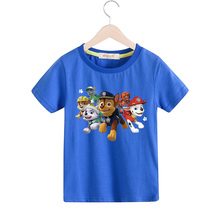 2017 Children Cartoon Dog Summer T-shirt For Boy Girls 100%Cotton Tee Tops Kids Short Sleeves T-shirt Clothing Baby Tshirt TX016