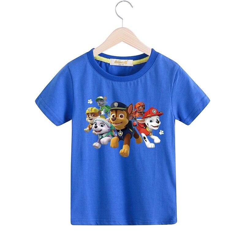 2018 children cartoon dog summer t shirt for boy girls 100 cotton tee tops kids short sleeves t. Black Bedroom Furniture Sets. Home Design Ideas