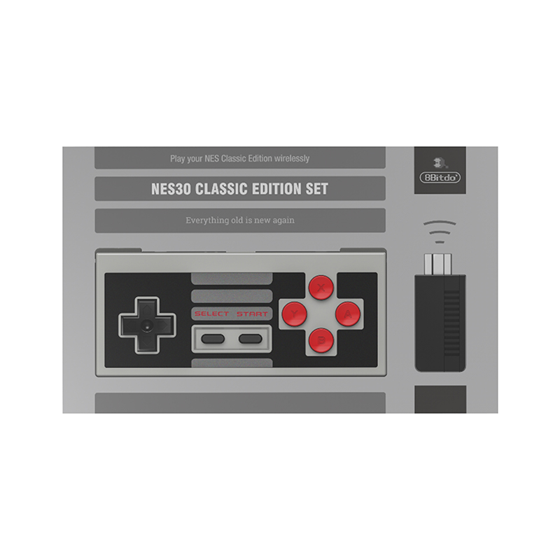 8BitDo N30 Classic Edition Wireless Controller Set with Bluetooth Retro Receiver Mini Support Switch Joy-Cons 7