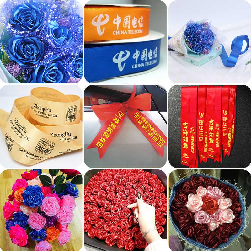 6mm 10mm 15mm 20mm 25mm 40mm 50mm Satin Bänder Weiß Rosa Rot Blau lila Grün Schwarz Gelb Orange Bänder 34 Farben Pick Up