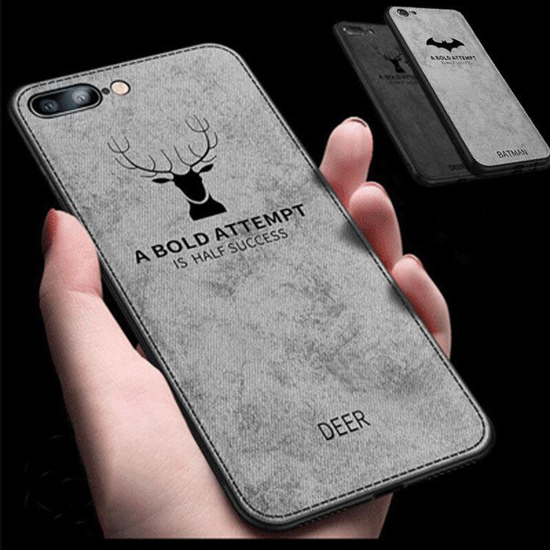 Cloth Texture Deer TPU Case For iphone 7 8 plus XS iphone 8 Fabric Silicon Cover For iphone XS Max iphone XR X 10 Case 6 6s plus