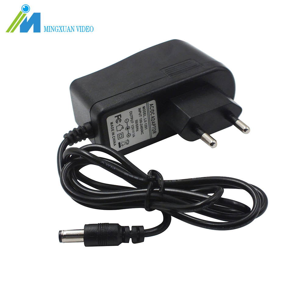 MX US EU Plug AC 100-240V-DC 12V 1A Power Adapter Charger AHD Camera Power Adapter for CCTV Camera System 100pcs us eu uk au plug ac line 1 5m dc line 1 2m ac100 240v to dc 24v 1a 24w power adapter 24v1a ac adapter