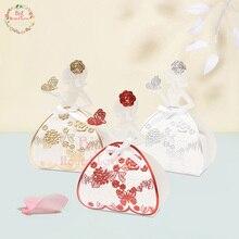 25 шт. Свадебная коробка для невесты Принцесса подарочные коробки для конфет детский душ Свадебные сувениры шоколадное свадебное оформление коробки вечерние поставки