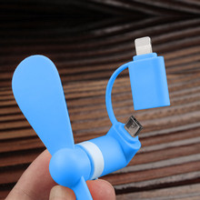 2 IN 1 Travel Portable Cell Phone Mini Fan Cooling Cooler For Micro USB C For iPhone 5 6 6S 7 Plus 8 X for Android mini micro usb electric fan cell phone cooling for android phone for samsung for htc for lg