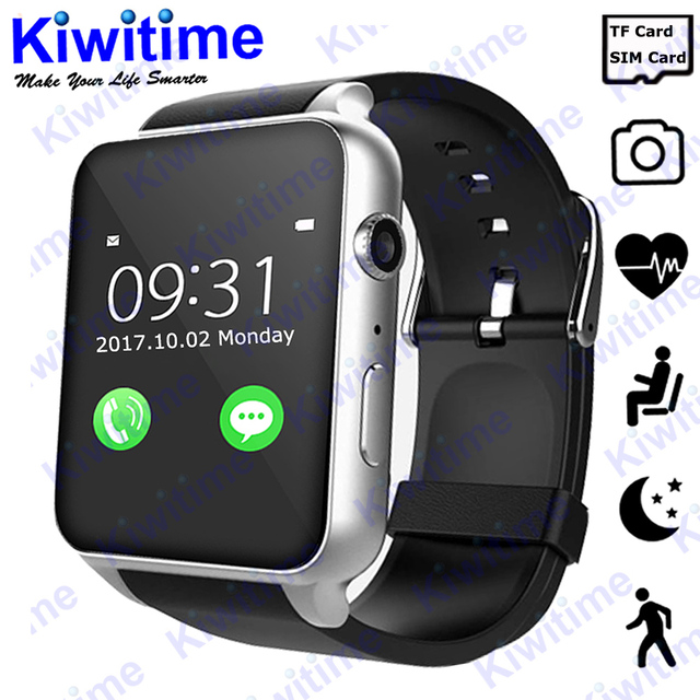 4846fbb9c KIWITIME Bluetooth Smart Watch case for apple iphone xiaomi android phone  TF Sim card Camera smartwatch pk apple watch GT88 DZ09