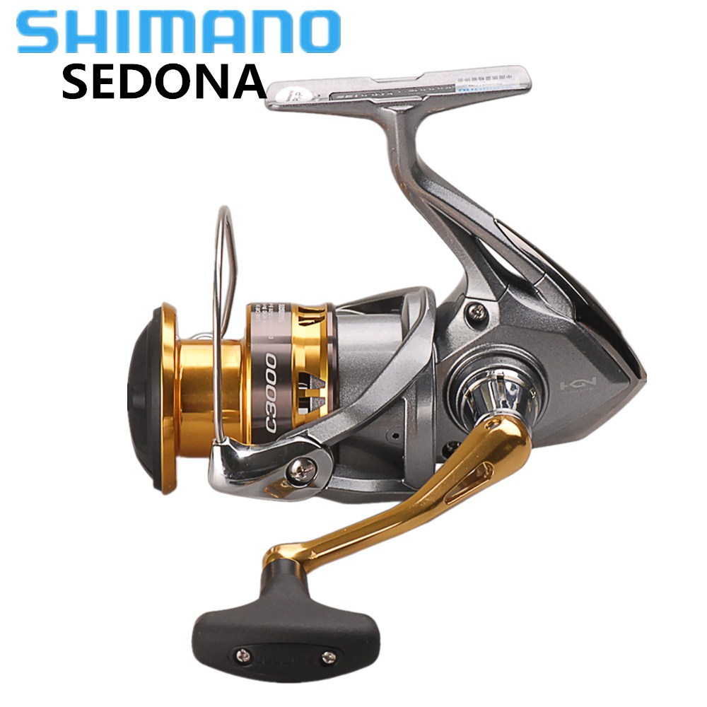 цена на SHIMANO SEDONA 6000/8000 Spinning Fishing Reel 3+1BB Saltwater Carp Fishing Reel HAGANE Gear Wheel Pesca Carretilha Molinete