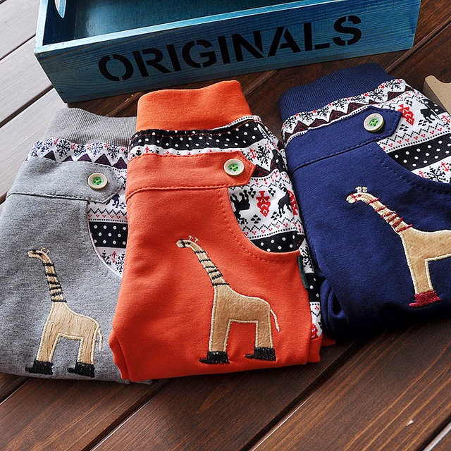 2016 high-quality new hot pants children's clothing baby boys and girls 100% cotton slacks trousers cute baby