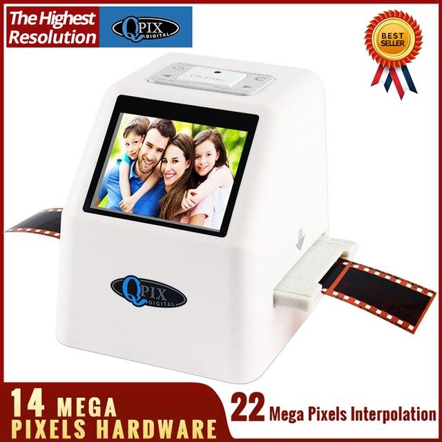 """Alta Resolução MP 110 135 126KPK 22 Super 8 35mm Digital Film Scanner de Slides Filme Negativo Photo Scanner Converter 2.4 """"LCD"""