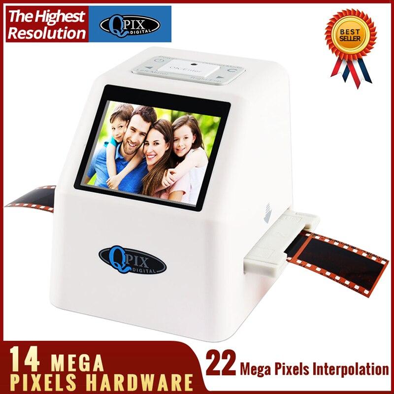 Alta resolução 22 mp 110 135 126kpk super 8 scanner negativo da foto 35mm conversor de filme digital do varredor do filme da corrediça 2.4