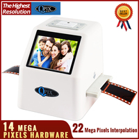 High Resolution 22 MP 110 135 126KPK Super 8 Negative Photo Scanner 35mm Slide Film Scanner Digital Film Converter 2.4LCD
