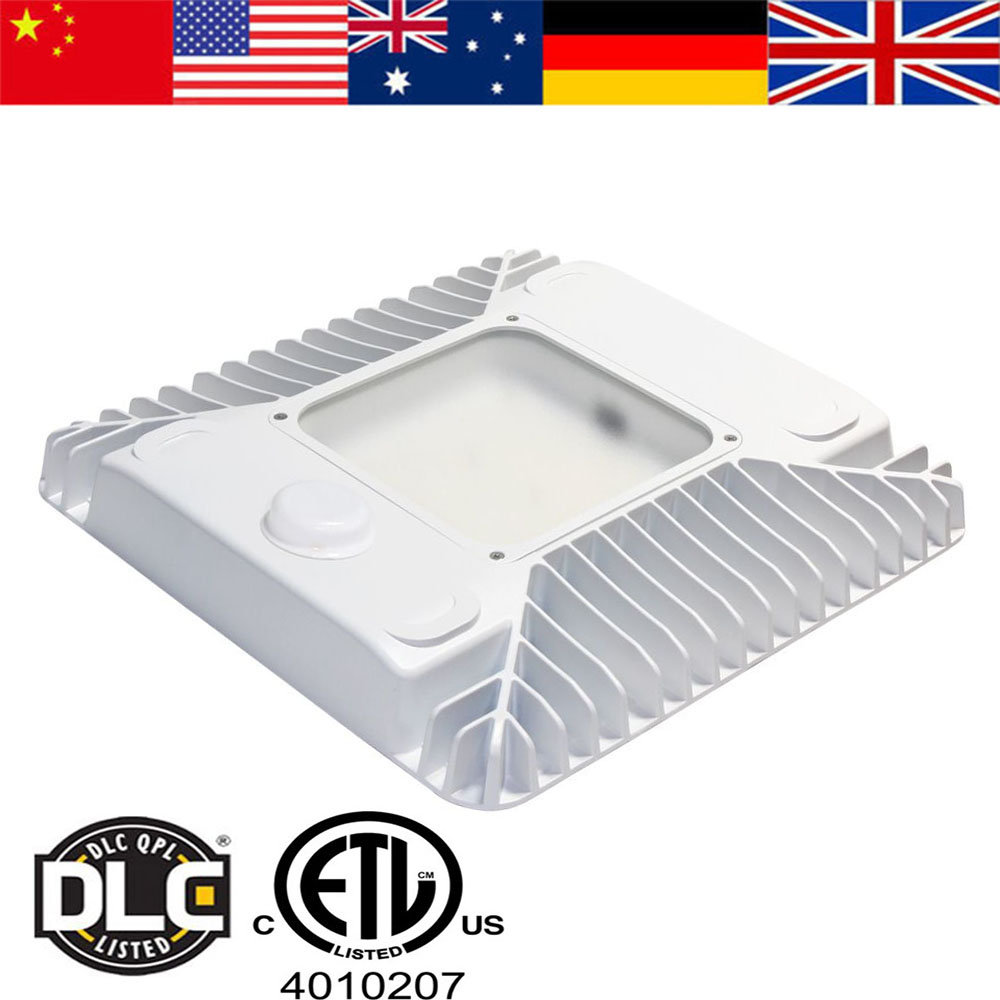 2019 hot sale high bright 100w 130W IP65 waterproof led canopy light for gas station LED industrial lighting