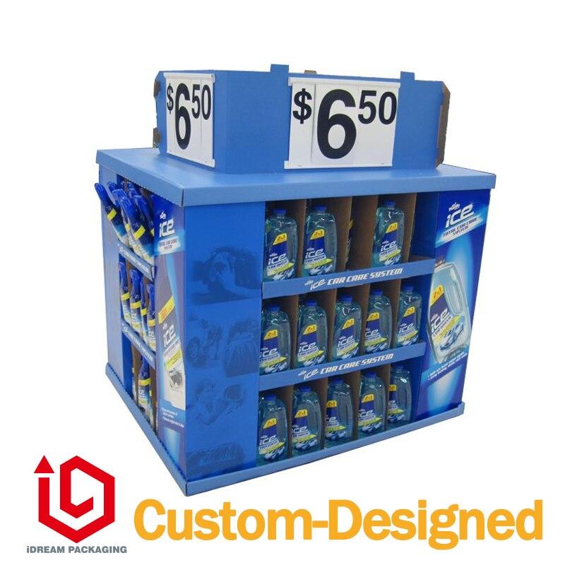 supermarket sale cardboard floor stand 150cm*120cm*150cm cutting edge starter workbook