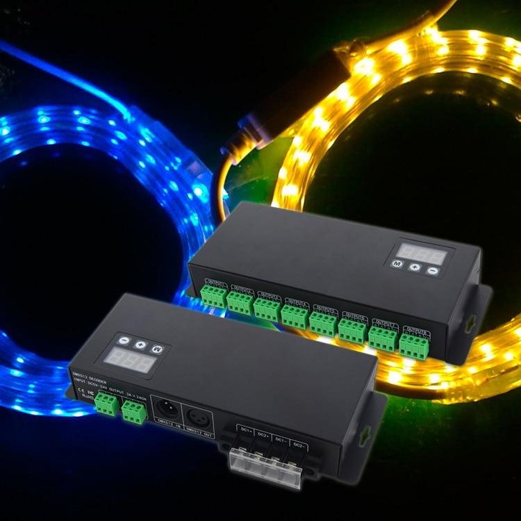 24 channle DMX LED decoder DMX512 Power Decoder RGB DMX512 Controller LED DMX Controller BC-824 3 years warranty Free Shipping led dmx512 decoder voor led lamp rgb groothandel dmx 3ch rgb controller high power constante stroom 700ma