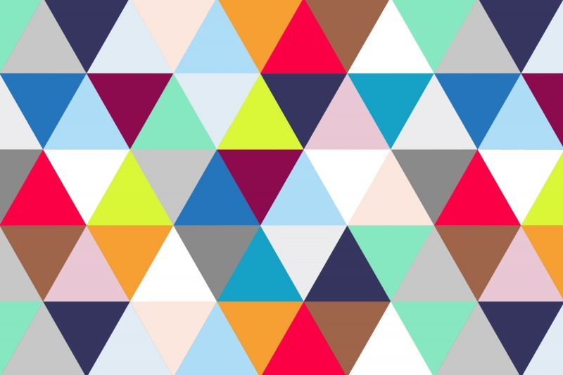 Aliexpresscom Buy Mural Multicoloured Triangles