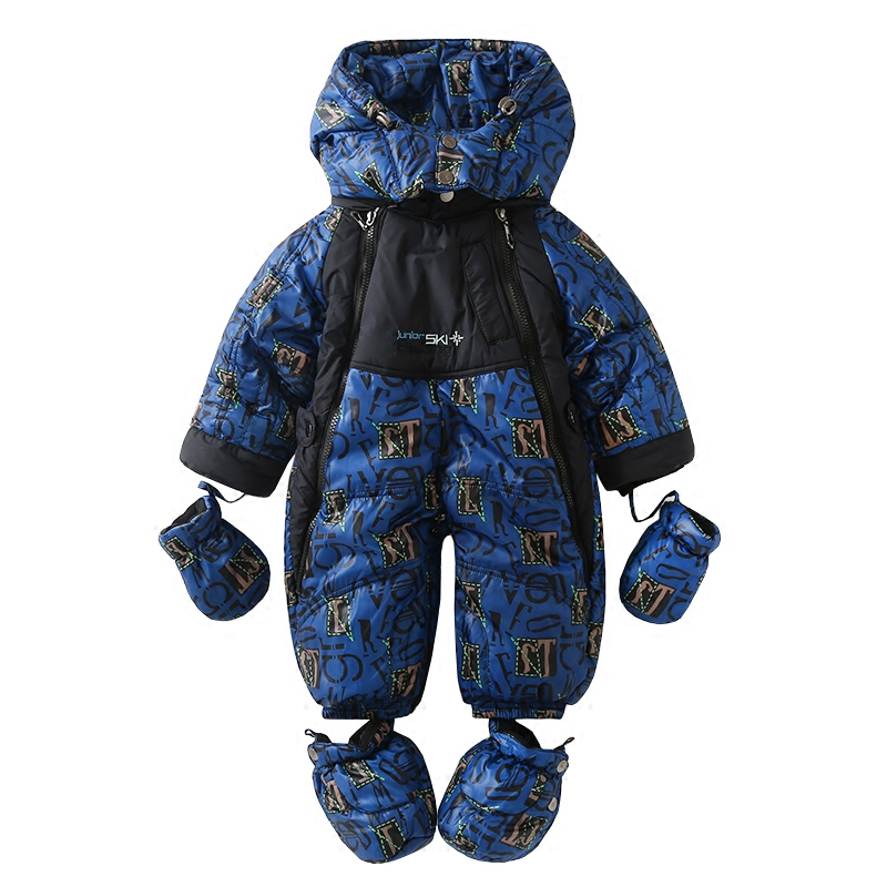 Baby girl boy Rompers Winter One-piece Suit Infant Warm Hooded Jumpsuit Coverall For Newborn  baby Outerwear For 0-24M auro mesa christmas baby romper elk print jumpsuit cotton infant coverall outerwear baby boys hooded one piece clothes
