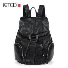 AETOO 2017 новый зимний ретро Колледж Ветер плеча сумку из натуральной кожи рюкзак отдыха и путешествий сумка женщин
