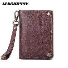 Genuine Leather Wallet Men Zipper Purse Male Card Holder Min
