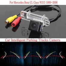 Автомобиль Интеллектуальные Парковка Треки Камеры ДЛЯ Mercedes-Benz CL Class W215 1999 ~ 2006/HD Резервного копирования Камера Заднего Вида/Камера Заднего вида
