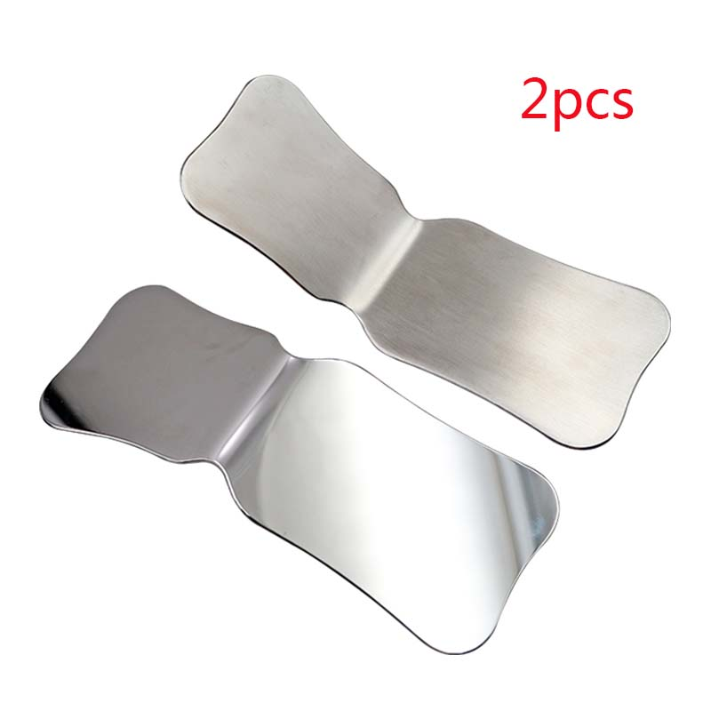2pcs Stainless Steel Photography Mirrors Autoclavable Intra-Oral Orthodontic Implant Reflector Clinic Instruments For Dental