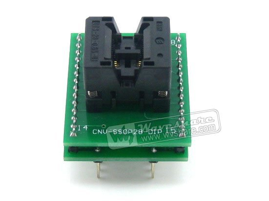 SSOP8 TO DIP8 TSSOP8 Enplas IC Test Socket Programming Adapter 0.65mm Pitch ob2268ap dip 8
