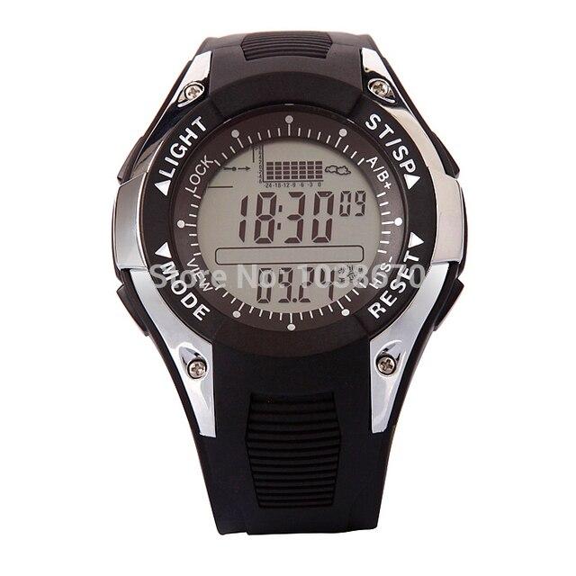 Multifunction Men Digital Fishing Watch Barometer Monitor Thermometer Altimete Storm Warn 6 Spot Data Record Waterproof Watch