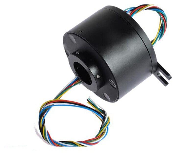 Диаметр 119 мм 6CH/12 каналов 10A отверстие Slipring диаметр диафрагмы 50 мм полый вал скольжения кольцо для RC проводящее Контактное кольцо