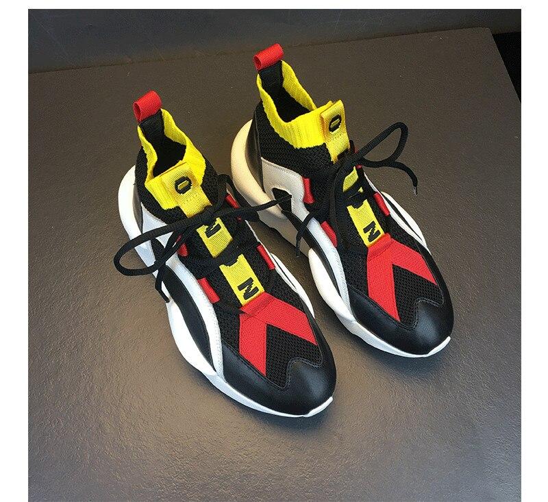 Популярный бренд Для женщин кроссовки обувь для влюбленных дышащая кожа женская повседневная обувь с высоким берцем смешанные Цвет шикарн