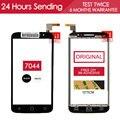 Оригинал Испытания 5.0 дюймов Черный Белый Сенсорный Для Alcatel One Touch Pop 2 OT7044 7044X Сенсорный Экран Стеклянная Панель Бесплатно клей