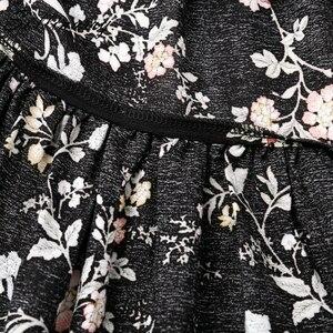 Image 5 - Sollinarry z kwiatowym wzorem z szyfonu spódnice na co dzień kobiety jesień wysokiej talii moda wzburzyć dziewczyna zimowa spódnica 2019 plaża czarna kobieca spódnica